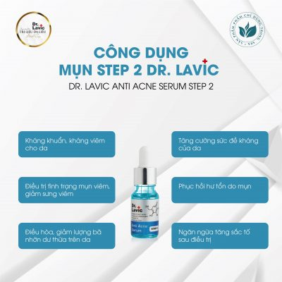Công dụng nổi bật và hiệu quả nhất của Dr.Lavic Step 2