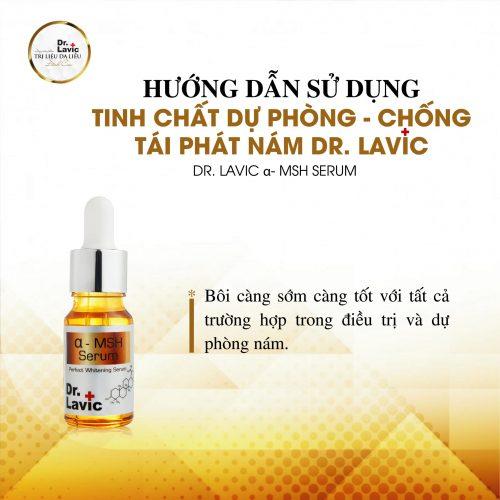 Cách dùng vô cùng đơn giản và hiệu quả giúp Dr.Lavic MSH serum tạo chỗ đứng vững mạnh trên thị trường