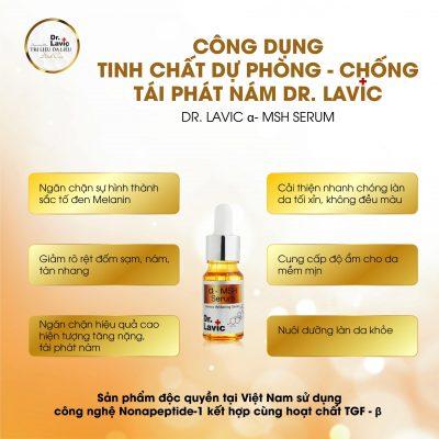 Dr.Lavic MSH serum có tác dụng thổi bay vết nám, lấy lại tuổi thanh xuân lần 2