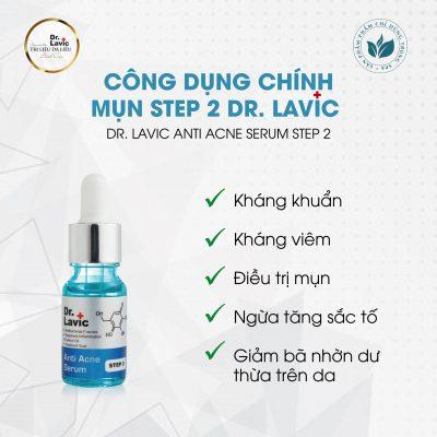 Công dụng chính của Mụn Step 2 Dr.Lavic