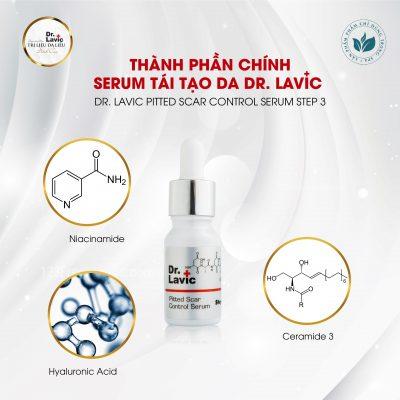 Thành phần chính bao gồm các hoạt chất dịu nhẹ với mọi làn da