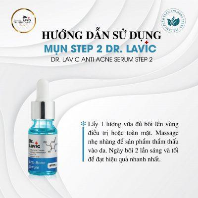 Cách dùng sản phẩm Mụn Step 2 Dr.Lavic đúng cách